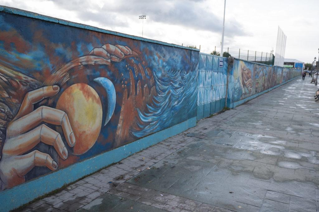 """Mural """"Herencia cultural de las etnias Aonikenk y Kaweskar"""" - Puerto Natales"""
